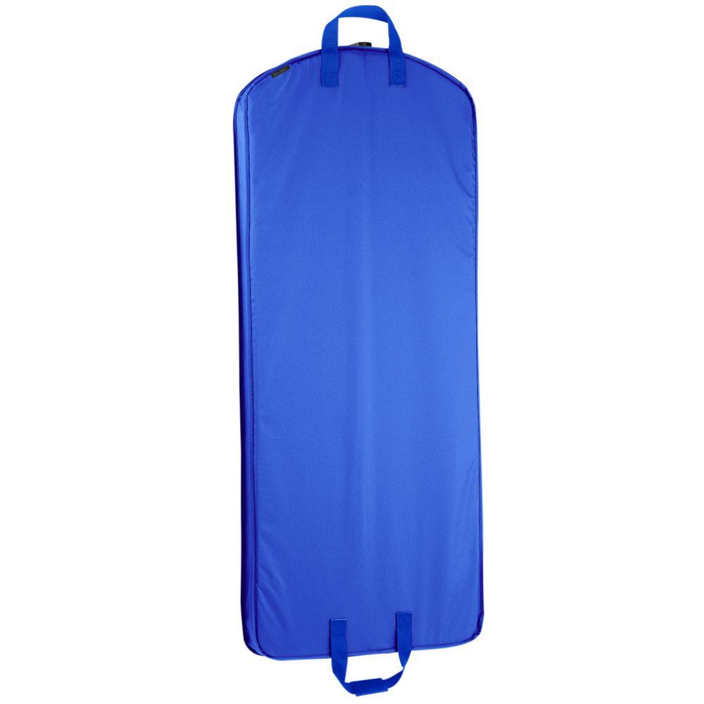 52 in. Royal Blue Dress Length Carry-On Garment Bag