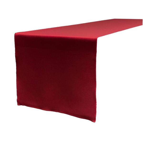 LA Linen 14 in. x 108 in. Cranberry Polyester Poplin Table