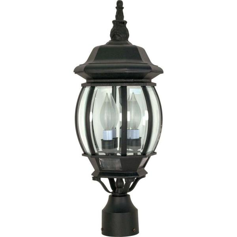 Textured Black Post Lantern Hd 899