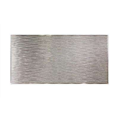 96 in. x 48 in. Dunes Horizontal Decorative Wall Panel in Brushed Aluminum