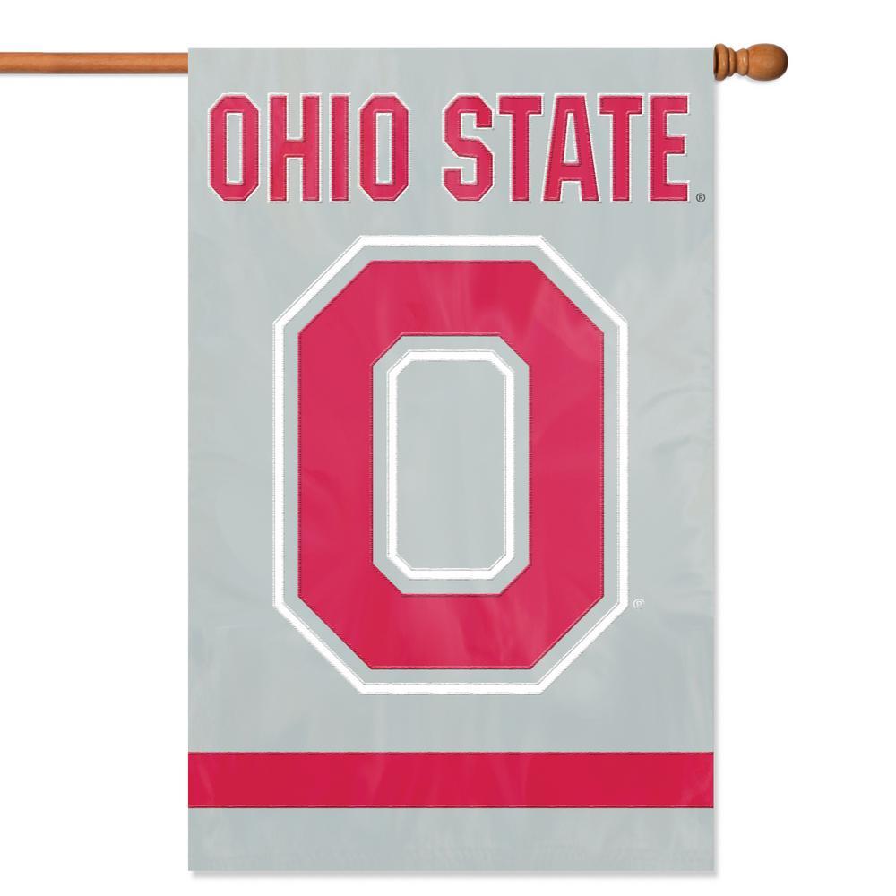 Ohio State Applique Block O Banner Flag