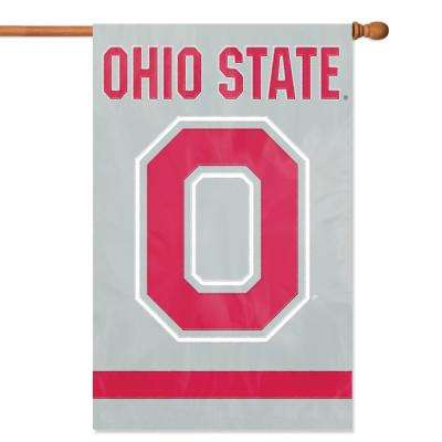 Ohio State Applique Block O Banner Flag