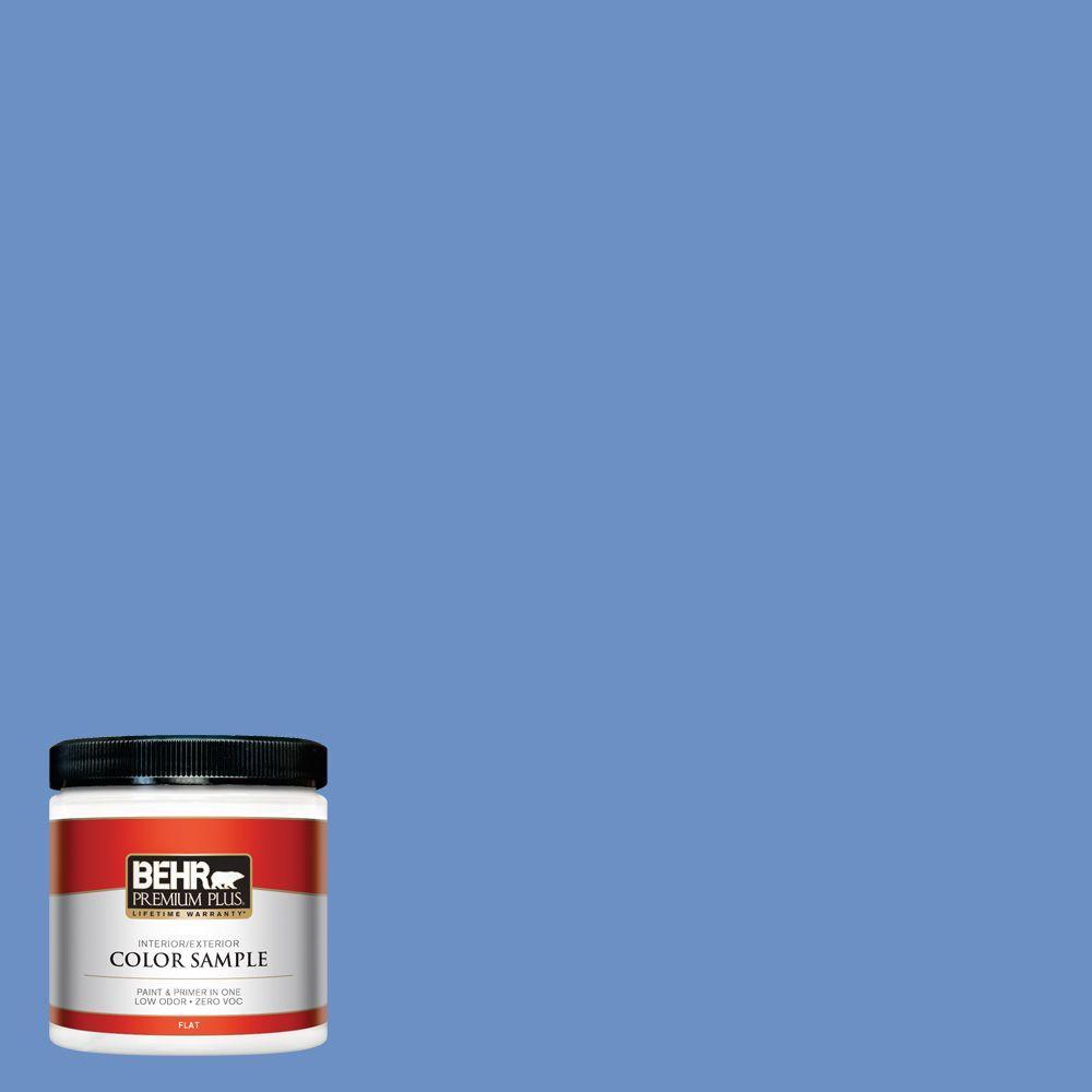 BEHR Premium Plus Home Decorators Collection 8 oz. #HDC-MD-02 Lapis Lazuli Zero VOC Interior/Exterior Paint Sample