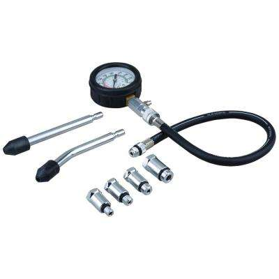 Gas Engine Cylinder Compression Tester Kit (8-Piece)