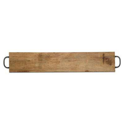 39 in. x 7.5 in. x 3/4 in. Natural Acacia Wood Feasting Board