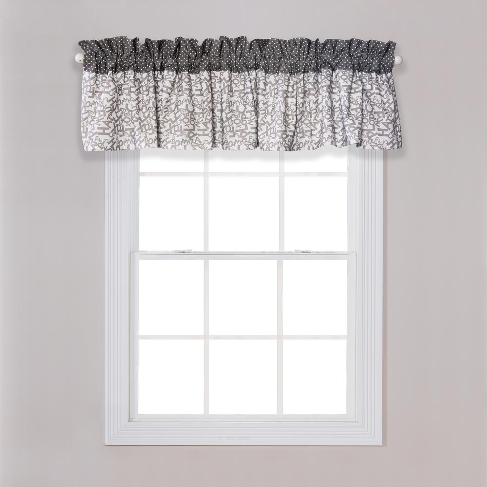Trend Lab Dr Seuss Cat And Things Gray White Window Valance