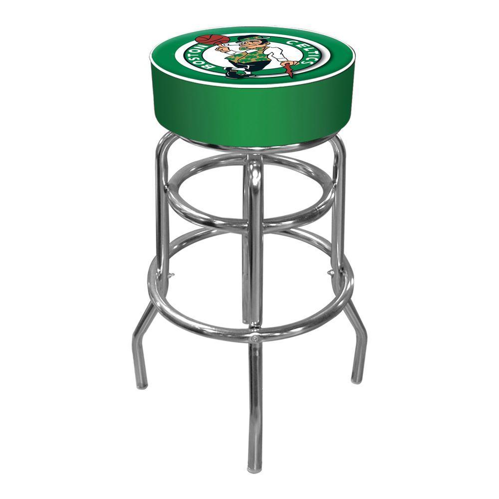 Boston Celtics NBA 31 in. Chrome Padded Swivel Bar Stool