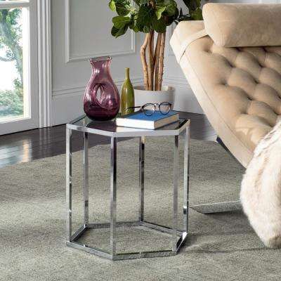 Teagan Chrome Glass End Table