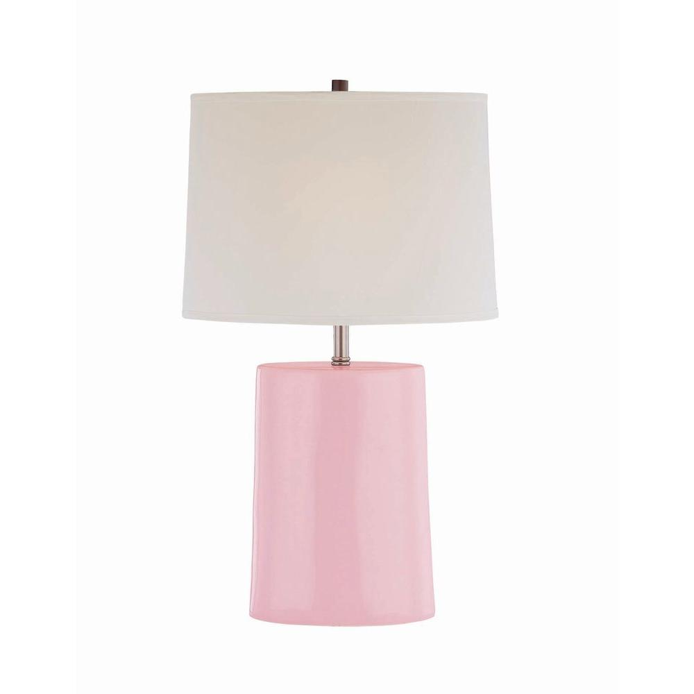 Illumine 25 in. Pink Table Lamp