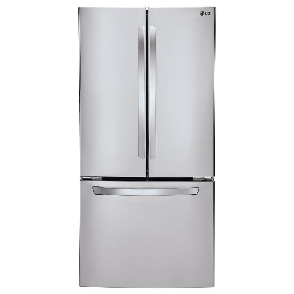 French Door lg 30 french door refrigerator pictures : LG Electronics 24 cu. ft. French Door Refrigerator in Smooth White ...