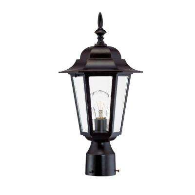 Camelot 1-Light Architectural Bronze Outdoor Post-Mount Fixture