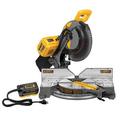 FLEXVOLT 120-Volt MAX Lithium-Ion Cordless Brushless 12 in. Miter Saw w/ AC Adapter (Tool-Only)