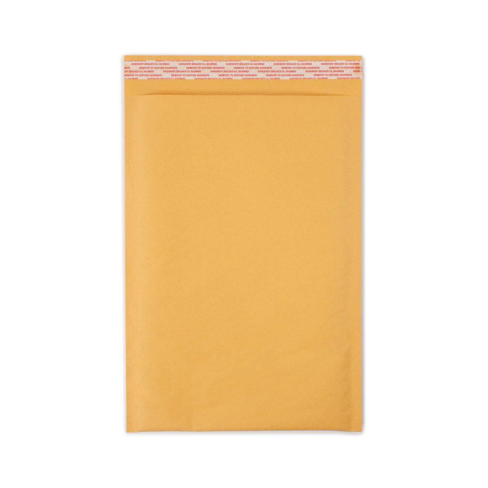 Pratt Retail Specialties 8.5 in. x 13.5 in. Paper Bubble Mailers with Adhesive Easy Close Strip 100/Case