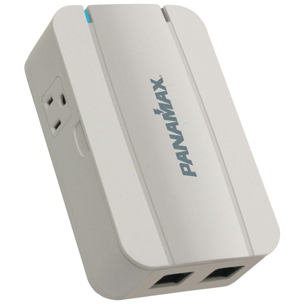 2-Outlet Surge Protector with Telephone and LAN Line Protection