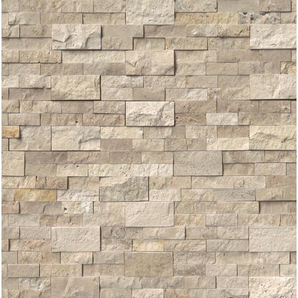 Roman Beige Ledger Panel 6 in. x 24 in. Natural Travertine Wall Tile (10 cases / 60 sq. ft. / pallet)