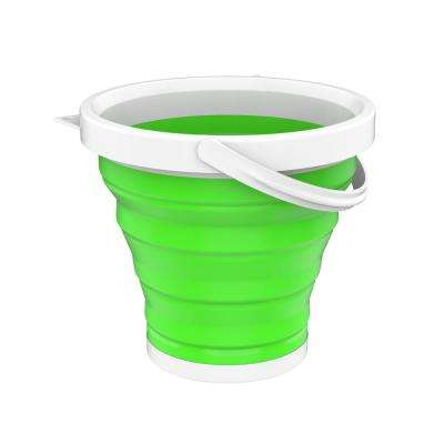 Collapsible Multi-use Portable Camping Bucket in Green