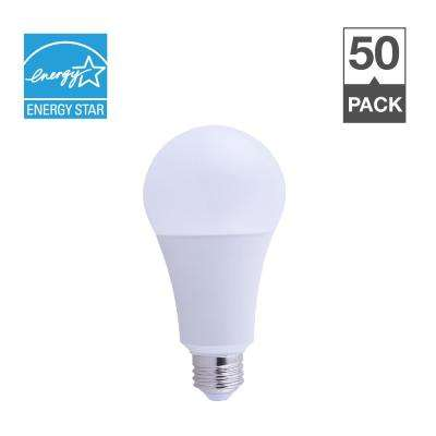 50/100/150-Watt Equivalent A21 3-Way ENERGY STAR Warm White 25,000-Hour LED-Light Bulb (50-Pack)