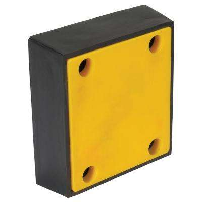 4 in. x 12 in. x 13 in. Pvc Face Molded Rubber Bumper