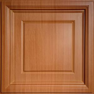 Ceilume Madison Faux Wood Caramel 2 Ft X 2 Ft Lay In