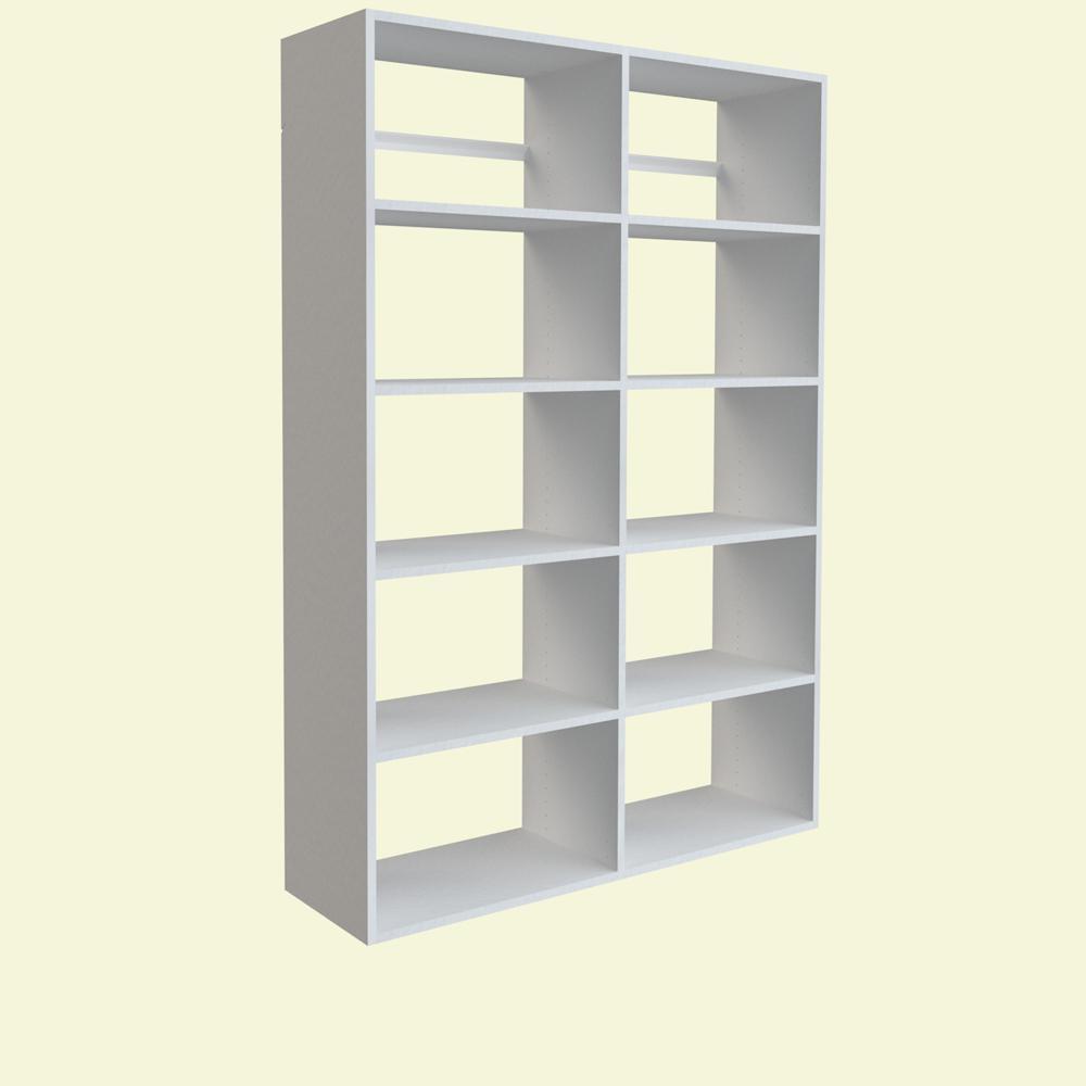 72 in. H x 50 in. W White Garage Shelf Storage Kit