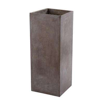 Al Fresco 16 in. x 39 in. Gray Cement Planter