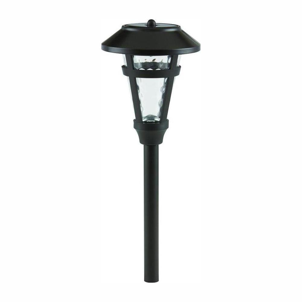 hampton bay Solar Roman Bronze Outdoor Integrated LED Landscape Path Lights with Water Glass Lens (6-Pack)