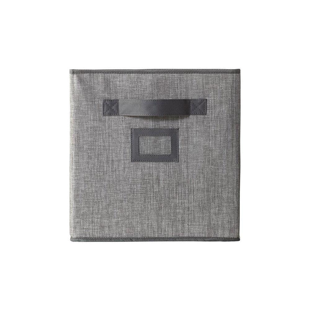 10.5 in. x 11 in. Fabric Glimmer Storage Bin in Dove