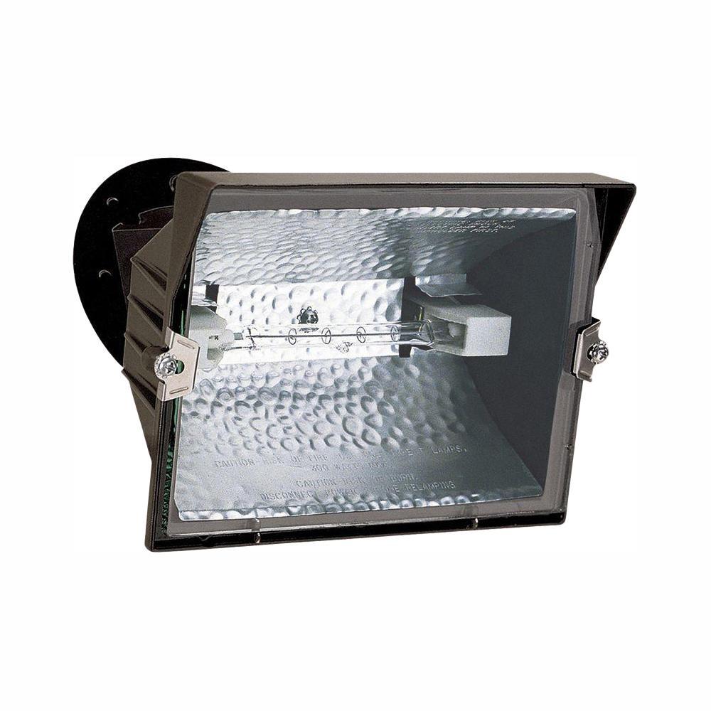 All Pro Outdoor Bronze 300 Watt Quartz Halogen Flood Light