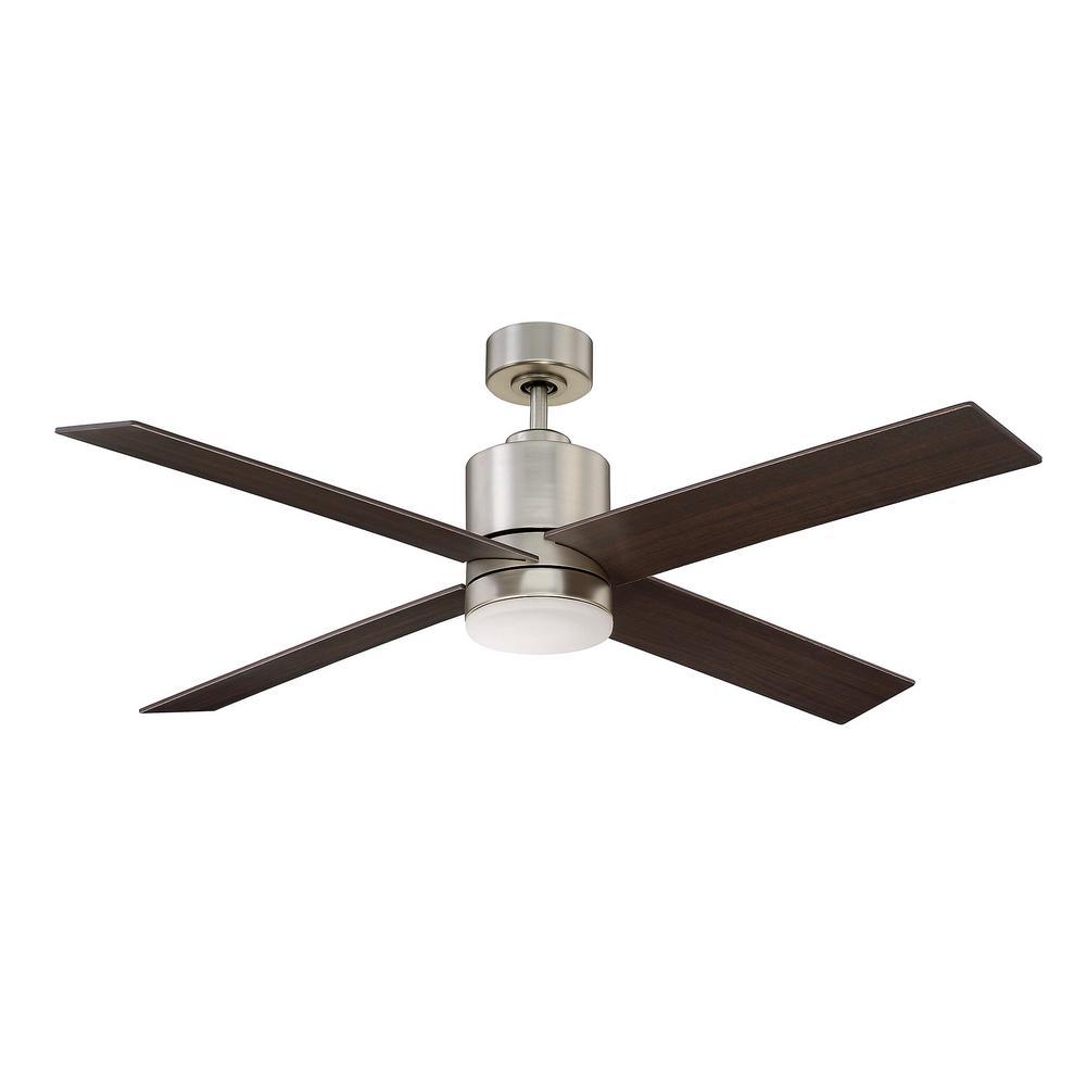 52 in. Satin Nickel Ceiling Fan