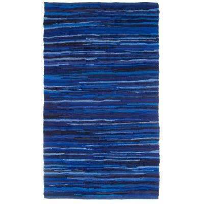 Chindi Tonal Navy 2 ft. x 4 ft. Area Rug