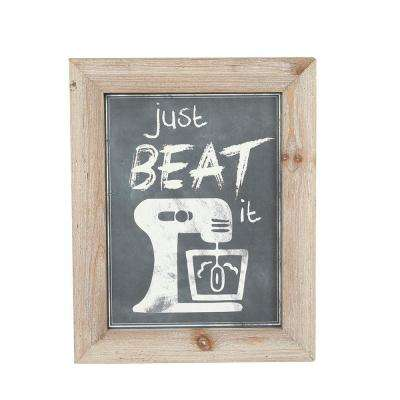 Wood Kitchen Plaques Home Accent (Set of 3)