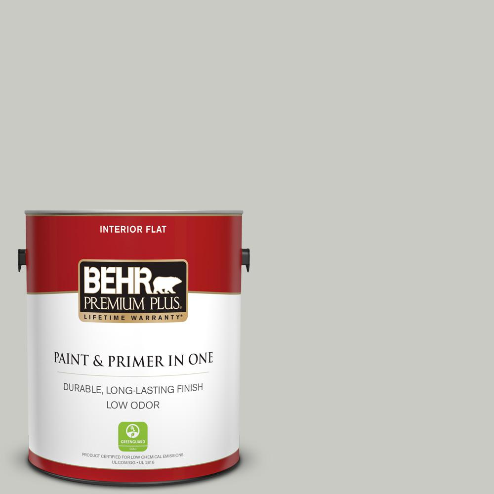 1 gal. #N380-2 Heath Gray Flat Low Odor Interior Paint and
