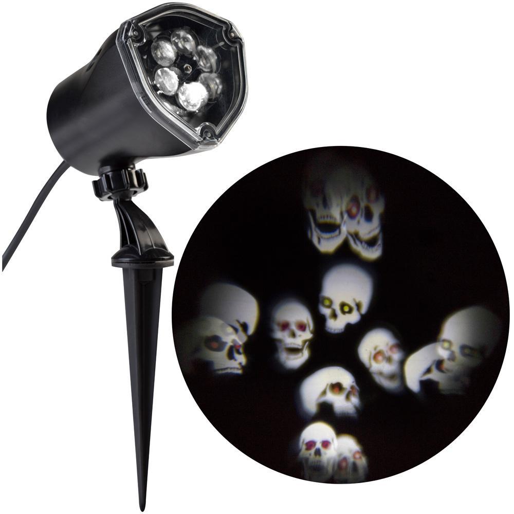 LED Projector Chasing Skull Strobe Spotlight