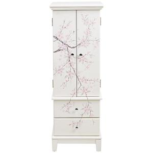 Cherry Blossom Cream Jewelry Armoire9965800440 The Home Depot