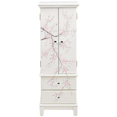 Cherry Blossom Cream Jewelry Armoire