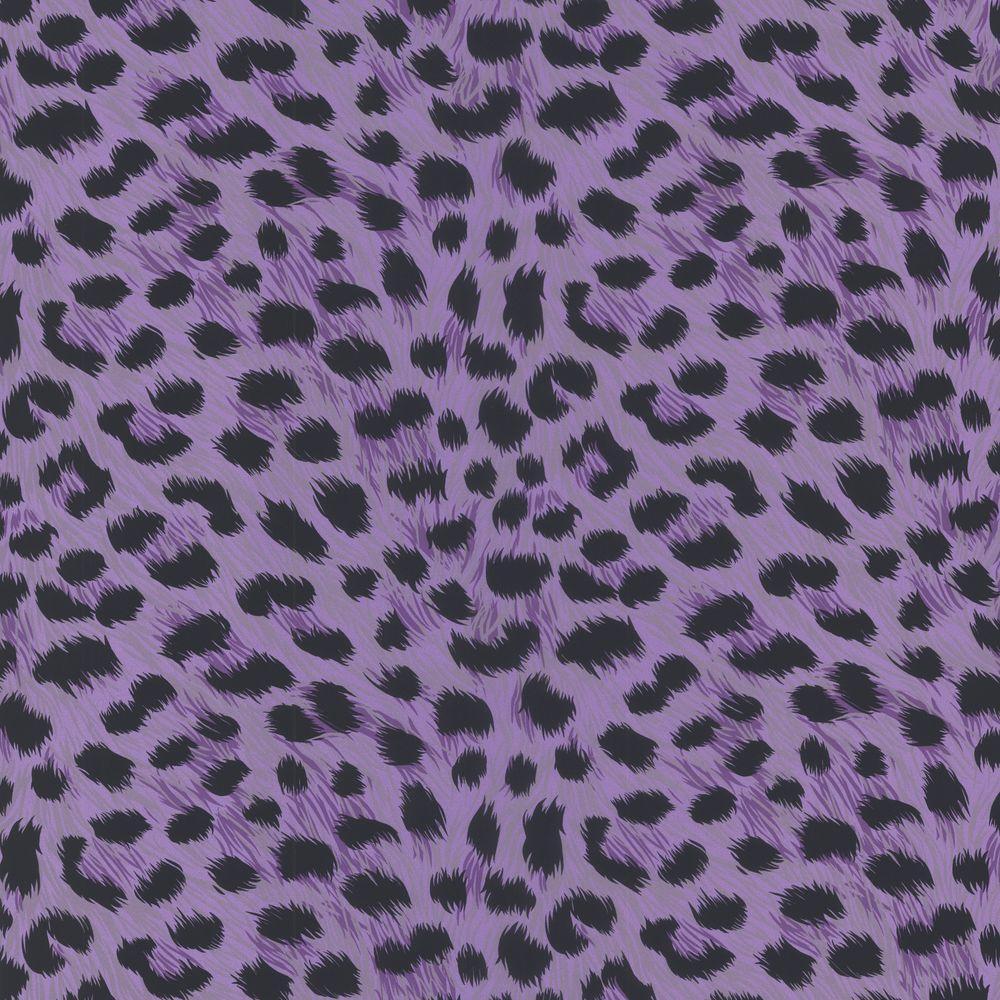 Printable Wallpaper: Brewster Kitty Purry Purple Leopard Print Wallpaper-443
