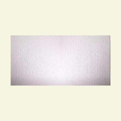 Ripple Vertical 96 in. x 48 in. Decorative Wall Panel in Matte White