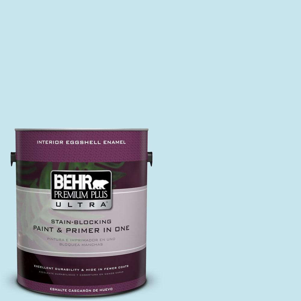 BEHR Premium Plus Ultra 1-gal. #M480-2 Igloo Blue Eggshell Enamel Interior Paint