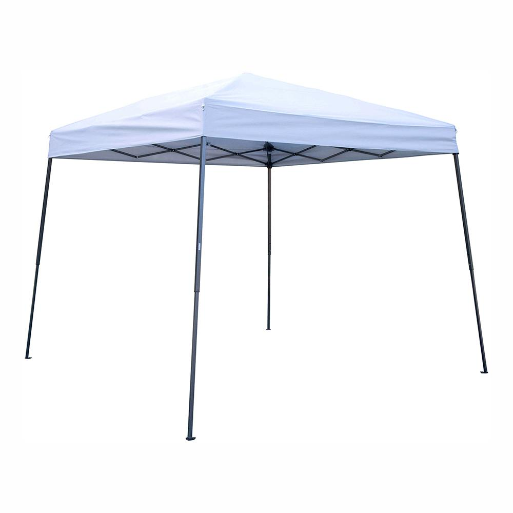 Trademark Innovations 8 Ft X Silver Square Replacement Canopy Gazebo Top For 10 Slant Leg