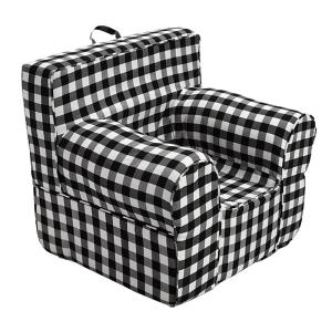 Awesome Pdc Furniture Oversize Kids Foam Chair With Black Gingham Ocoug Best Dining Table And Chair Ideas Images Ocougorg