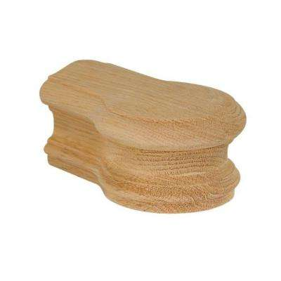 7719 Unfinished Red Oak Opening Cap Stair Hand Rail Fitting