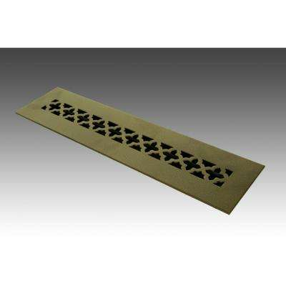 14 in. x 2.25 in. Oil Rubbed Bronze Poweder Coat Steel Floor Vent with Opposed Blade Damper