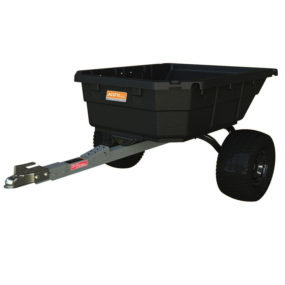 AllFitHD 12.5 cu. ft. 1250 lb. Capacity Poly Swivel ATV Cart