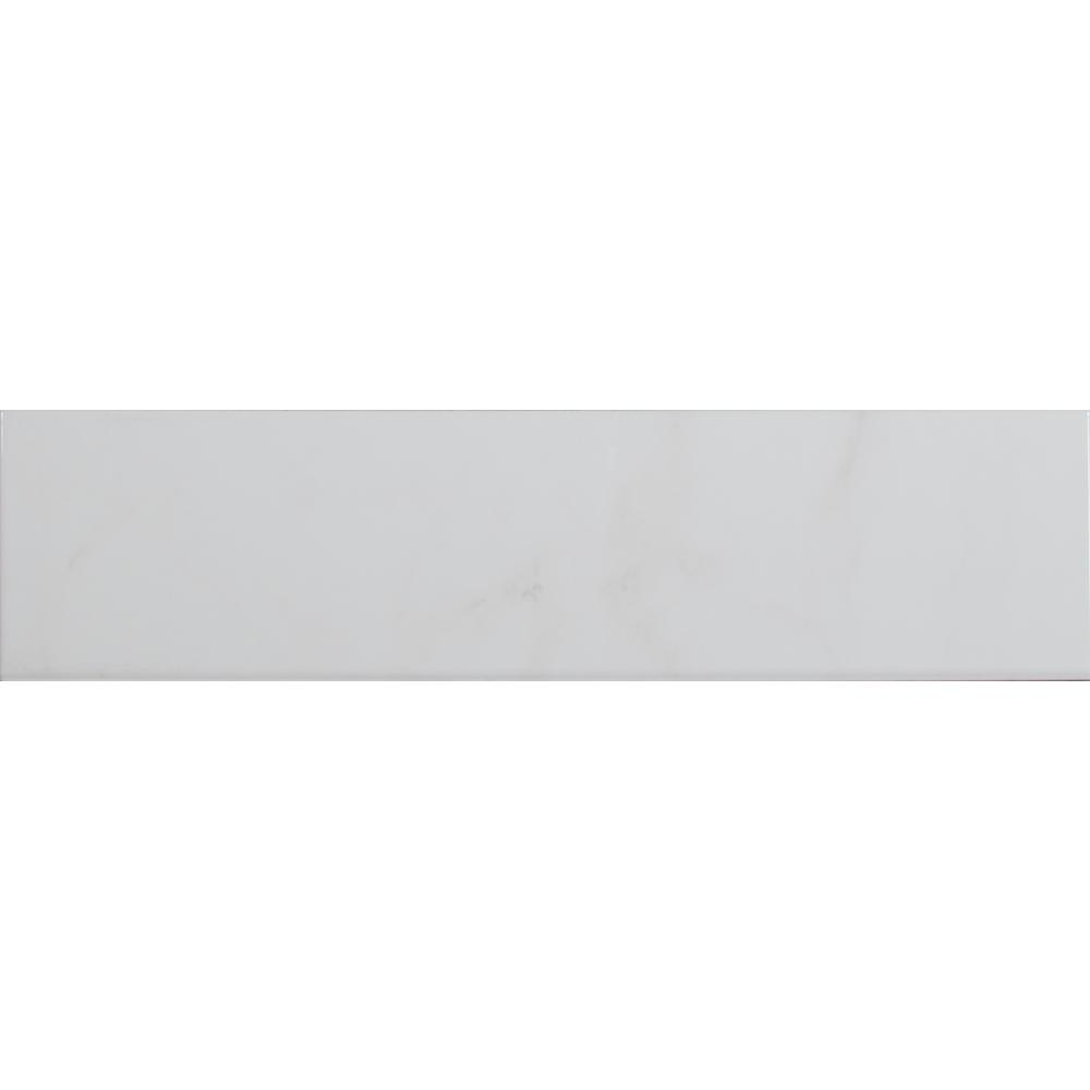 Msi classique white carrara glossy 4 in x 16 in glazed ceramic msi classique white carrara glossy 4 in x 16 in glazed ceramic bullnose wall dailygadgetfo Choice Image