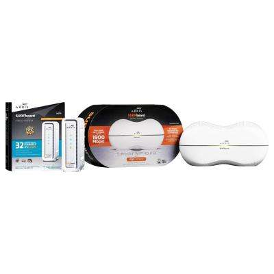 SURFboard SB6190 Cable Modem and SBR-AC1900P Wi-Fi Router with RipCurrent G.hn Technology