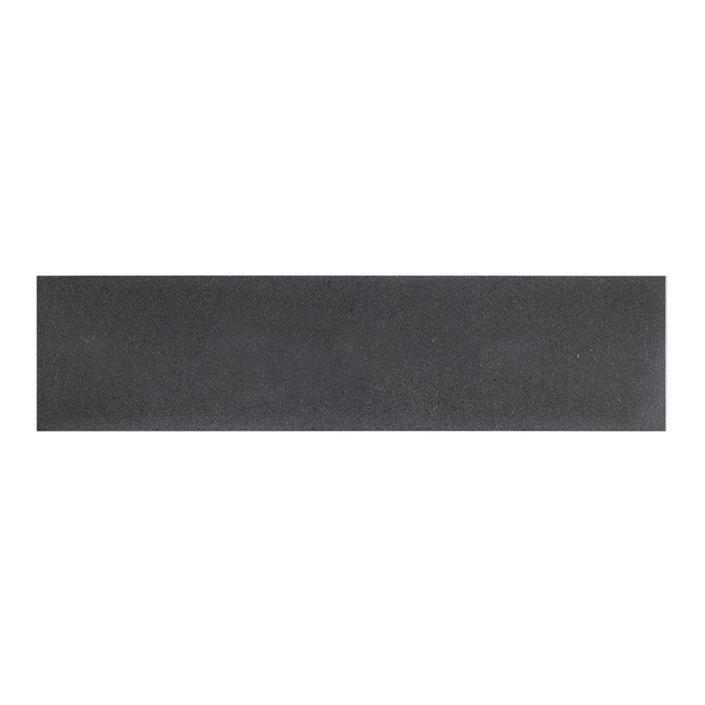Honed 4 in. x 16 in. Basalt Field Wall Tile (8