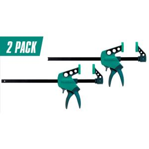 AccuGrip 12 in. One-Hand Bar Clamp and 20 in. Spreader (2-Pack)