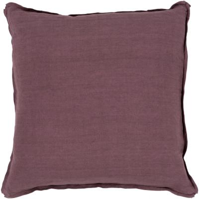 Zevgari Purple Solid Polyester 22 in. x 22 in. Throw Pillow