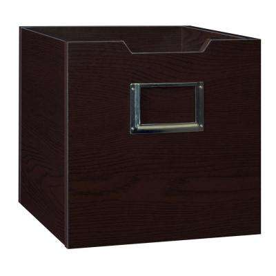 Cheer 12 in. x 12 in. Truffle Wooden 1-Cube Storage Tote