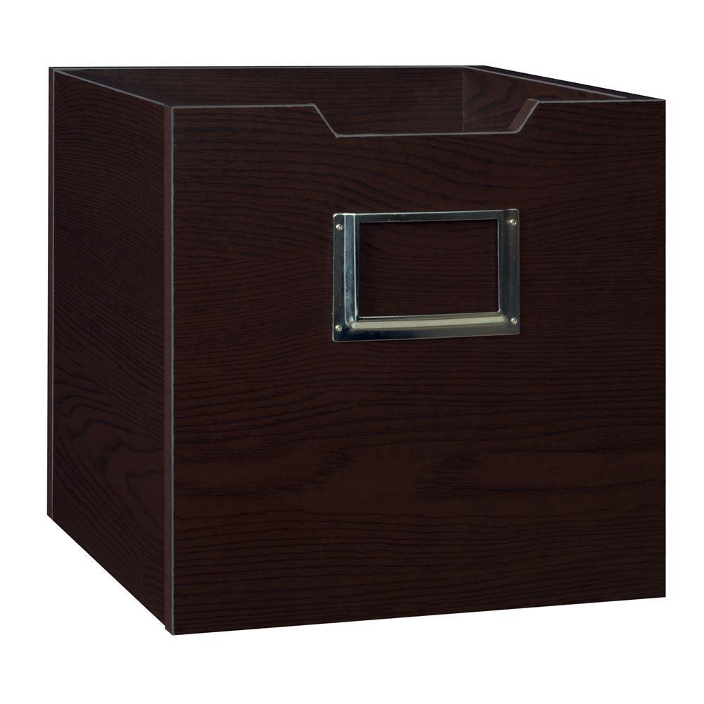 12 in. H x 12 in. W x 12 in. D Truffle Wood 1-Cube Storage Organizer